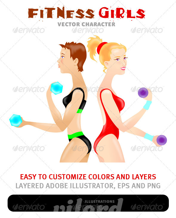 Fitness Girls - Sports/Activity Conceptual
