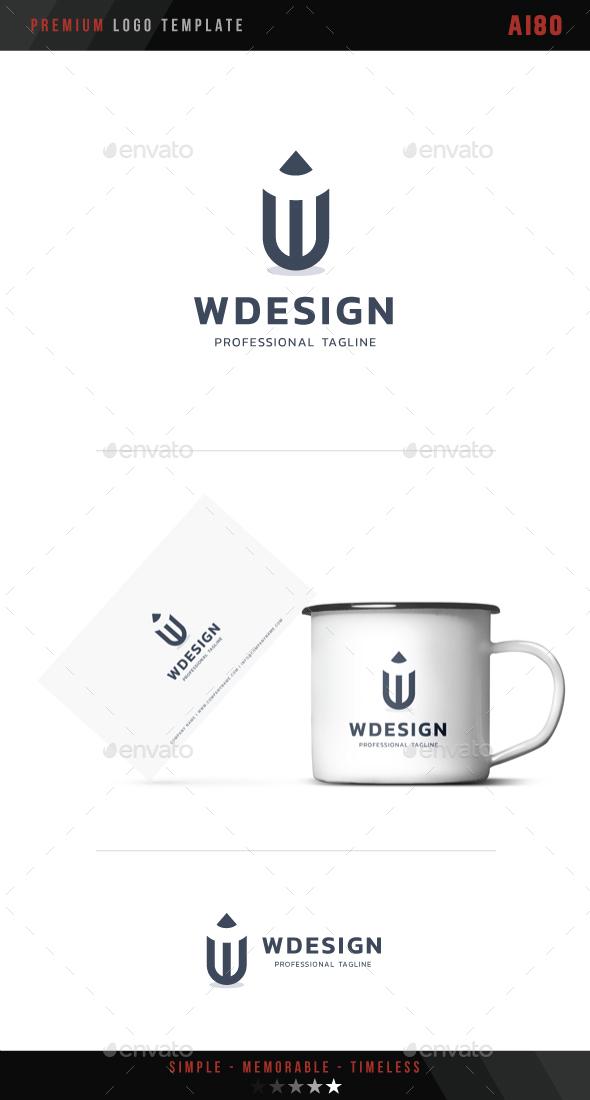 W Design Logo - Letters Logo Templates