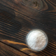 Bowl of salt on the wooden background - PhotoDune Item for Sale
