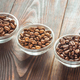 Bowls of different types of coffee beans - PhotoDune Item for Sale