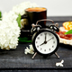 Alarm clock have a good day with a cup of coffee. - PhotoDune Item for Sale