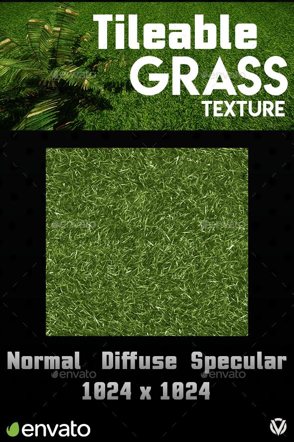 Tileable Grass Texture - 3DOcean Item for Sale