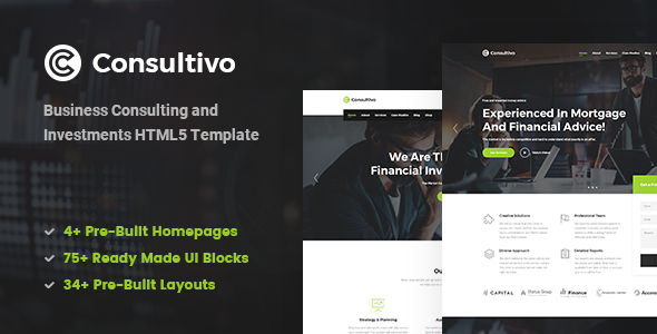 Consultivo - Business Consulting and Investments HTML5 Template - Business Corporate
