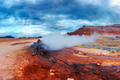 Smoking fumaroles on Hverarond valley - PhotoDune Item for Sale