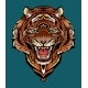 Colorful Image of an Angry Tiger - GraphicRiver Item for Sale
