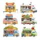 Food Truck Vectors - GraphicRiver Item for Sale