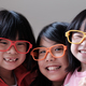 Three children wear big eyeglasses - PhotoDune Item for Sale
