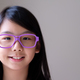 Portrait of Asian teenager with big purple glasses - PhotoDune Item for Sale