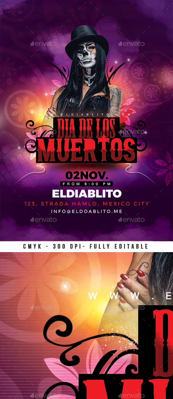 Dia De Los Muertos Flyer - Events Flyers