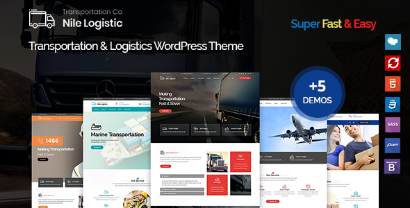 Nile - Transportation and Logistics WordPress Theme - Business Corporate