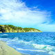 Elba island, Portoferraio Le Ghiaie beach coast. Tuscany, Italy. - PhotoDune Item for Sale