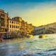 Venice grand canal, Rialto bridge at sunrise. Italy - PhotoDune Item for Sale