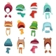 Winter Kids Hat. Warm Childrens Hats and Scarves