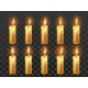 Candle Fire Animation. Burning Orange Wax Candles - GraphicRiver Item for Sale