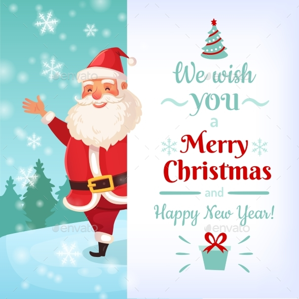 Merry christmas card santa claus greeting cards by tartila santa claus greeting cards seasonsholidays conceptual m4hsunfo
