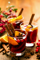Christmas mulled red wine with spices and oranges - PhotoDune Item for Sale