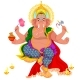 Diwali Holiday and Ganesha God with Elephant Head - GraphicRiver Item for Sale