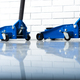 Two blue lift jacks in the car repair garage - PhotoDune Item for Sale