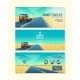 Vector Banner Template with Tourist Concept - GraphicRiver Item for Sale