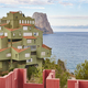Spanish mediterranean coastline in Alicante. Calpe. La Manzanera. Arquitecture. Spain - PhotoDune Item for Sale