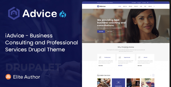 iAdvice - Business Consulting and Professional Services Drupal Theme - Business Corporate