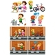 Children Playing With Friends on The Road - GraphicRiver Item for Sale