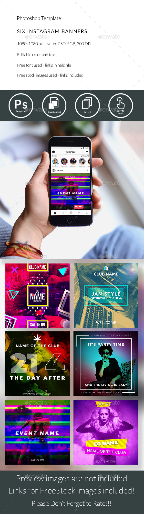 Instagram - Banners & Ads Web Elements