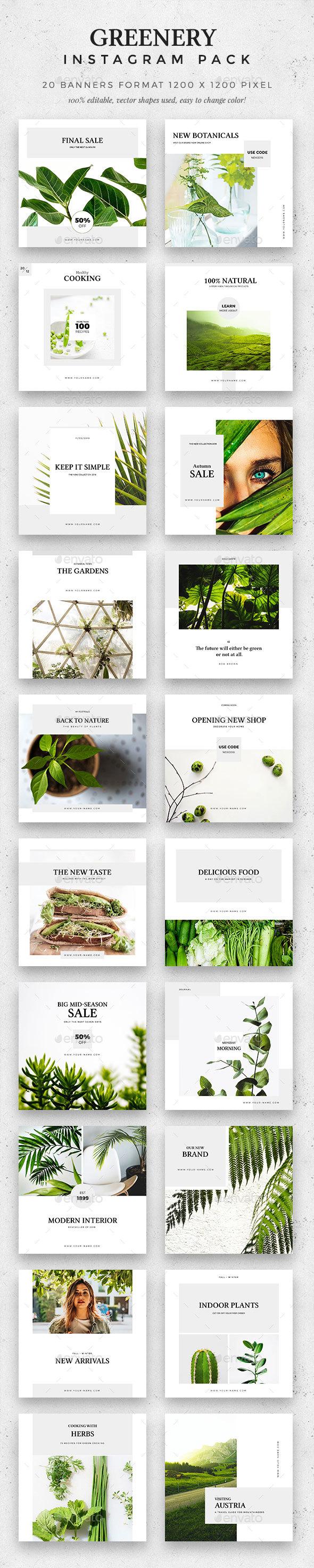Greenery -  Instagram Pack