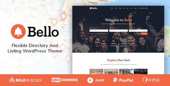 Bello - Directory & Listing Theme