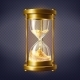 Vector Realistic Hourglass with Golden Sand - GraphicRiver Item for Sale