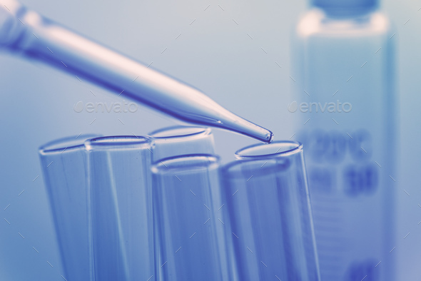 Medical science laboratory glassware - Stock Photo - Images