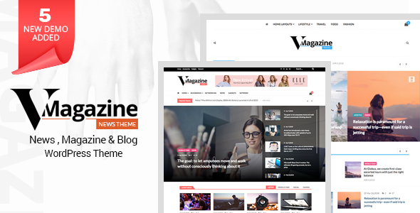 Vmagazine- Blog, NewsPaper, Magazine WordPress Themes - News / Editorial Blog / Magazine