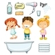 Children and Bathroom Set - GraphicRiver Item for Sale