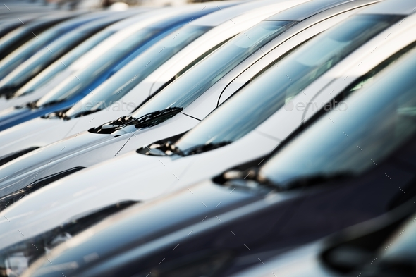 Row of Modern Cars - Stock Photo - Images
