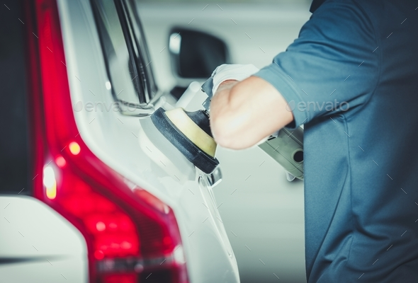 Professional Vehicle Buffing - Stock Photo - Images