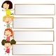 Banner Design With Four Kids - GraphicRiver Item for Sale