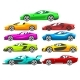 Collection of Sports Racing Cars - GraphicRiver Item for Sale