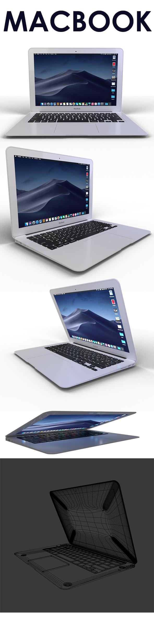 MacBook - 3DOcean Item for Sale