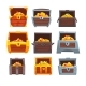 Collection of Wooden Chests with Treasures - GraphicRiver Item for Sale