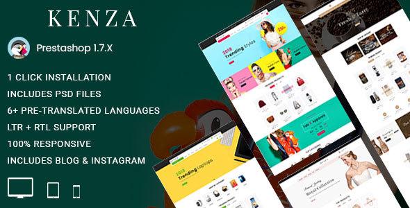 Kenza - Fashion Prestashop 1.7 Responsive Theme - Fashion PrestaShop