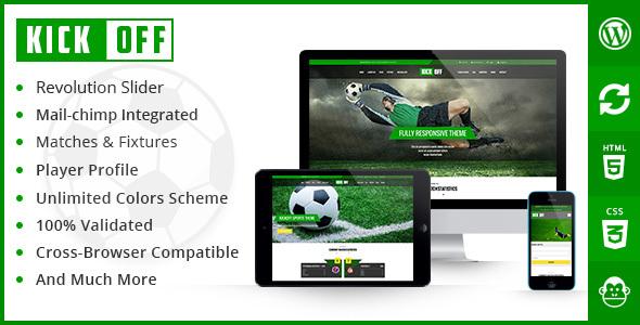 Kickoff Sports Club - WordPress Theme