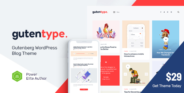 Gutentype | A Trendy Gutenberg WordPress Theme for Modern Blog - Blog / Magazine WordPress