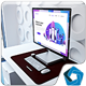 Surface Studio in office - GraphicRiver Item for Sale