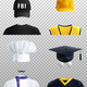 Different Professions Hats Set - GraphicRiver Item for Sale