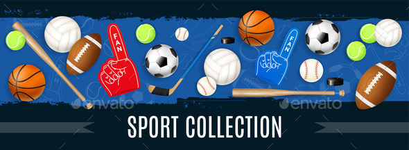 Sport Inventory Realistic Illustration - Sports/Activity Conceptual
