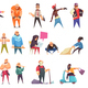 Flat Criminal Characters Set - GraphicRiver Item for Sale