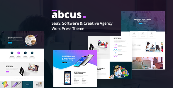 Abcus - App, Software & SaaS Startup WordPress Theme - Portfolio Creative