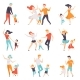 Parents Dancing with Their Children Set - GraphicRiver Item for Sale