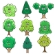 Kawaii Trees Set - GraphicRiver Item for Sale