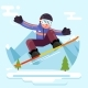 Snowboard  Character - GraphicRiver Item for Sale